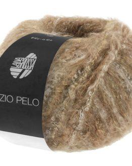 Lana Grossa Inizio Pelo 01 beige cammello: prezioso filato invernale in baby alpaca, lana vergine merino e cotone con effetto bouclé - Amici di Maglia