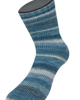 Lana Grossa Meilenweit 100 Soja Lago 5170 multicolore: filato ecosostenibile per calze in pura lana vergine merino e soia - Amici di Maglia