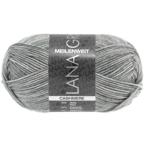 Lana Grossa Meilenweit 50 Cashmere 02 grigio chiaro screziato: filato prezioso invernale per calze in cashmere - Amici di Maglia