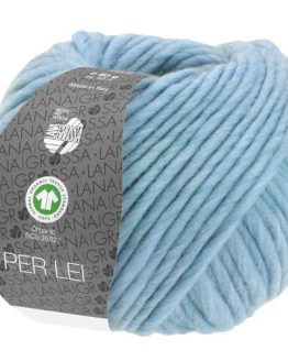 Lana Grossa Per Lei GOTS 22 azzurro: filato certificato invernale in pura lana - Amici di Maglia