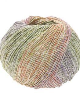 Lana Grossa Solo Lino Print 156: filato naturale multicolore in lino e viscosa - Amici di Maglia