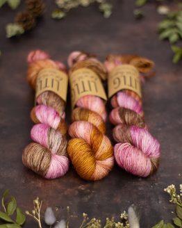 LITLG Singles Sock Sienna Pink: prezioso filato in pura lana merino superwash tinto a mano - Amici di Maglia