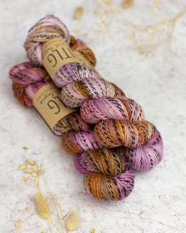 LITLG Zebra Marl Sock Sienna Pink: filato pregiato in pura lana merino tinto a mano - Amici di Maglia
