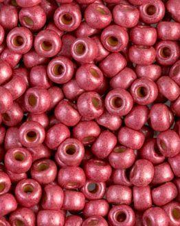 Miyuki Matted Duracoat™ Galvanized 6/0 Cranberry: preziose perline colorate in vetro giapponese - Amici di Maglia