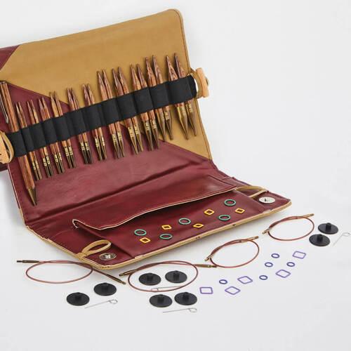 KnitPro Ginger Deluxe Special: set di 11 ferri intercambiabili con punte corte e accessori - Amici di Maglia