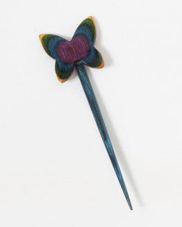 KnitPro Utterly Butterfly: spilla ferma scialle in legno di faggio a forma di farfalla - Amici di Maglia