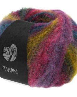 Lana Grossa Twin 25 101: filato naturale pregiato multicolore in lana vergine merino e baby alpaca - Amici di Maglia