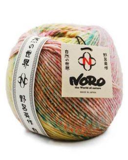 Noro Viola: pregiato filato naturale in pura lana fantasia ideale per lavori a maglia invernali - Amici di Maglia