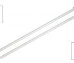 Ferri diritti Alluminio – 30 cm.
