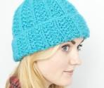 Moss Stitch Rib Hat